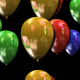 Color balloons loop with transparency - VideoHive Item for Sale