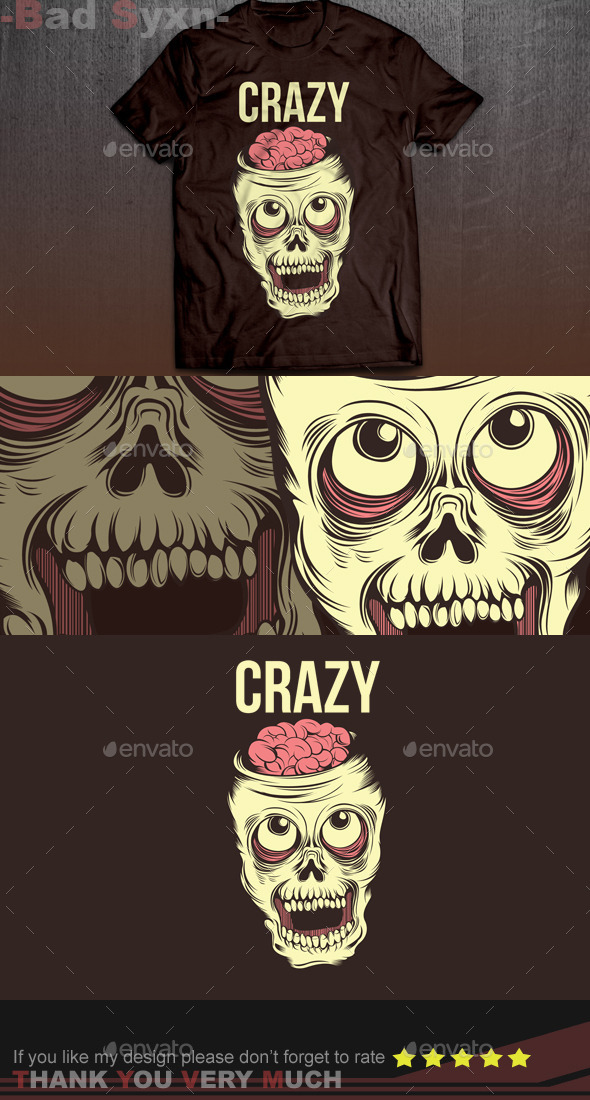 Crazy Skull - Funny Designs