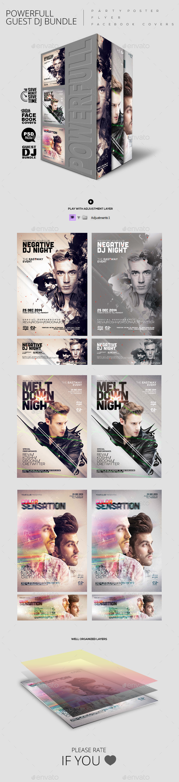 Bundle of Guest Dj Party Poster/ Flyer/ Facebook C - Clubs & Parties Events