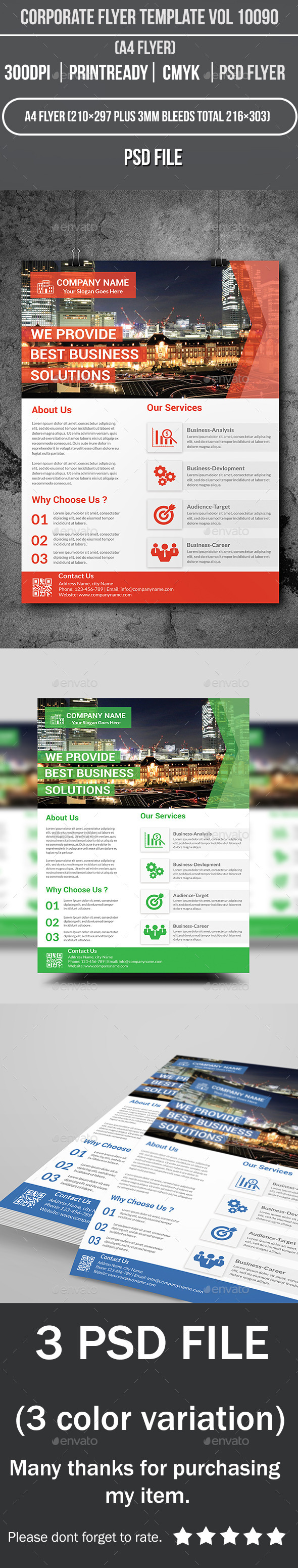 Corporate Flyer Template Vol 10090 - Corporate Flyers