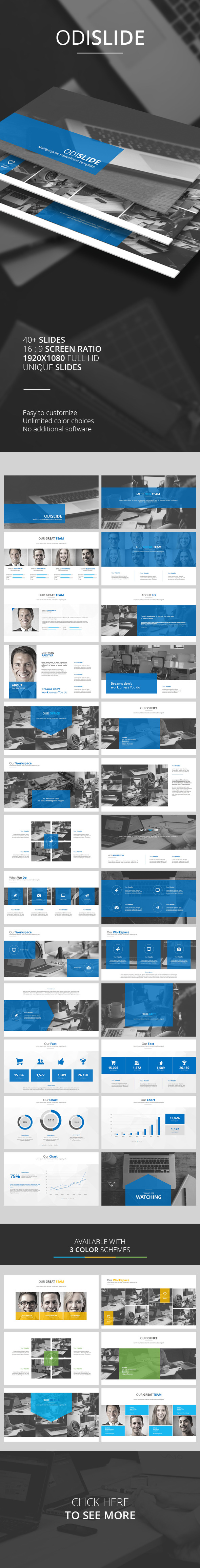 Odislide PowerPoint Template - PowerPoint Templates Presentation Templates