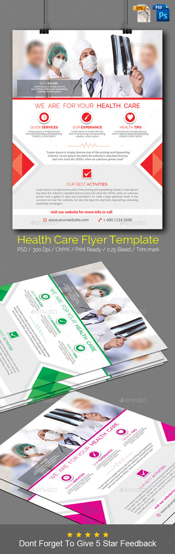 Health Care Flyer Template  - Flyers Print Templates