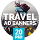 Travel / Vacation Ad Banners - GraphicRiver Item for Sale