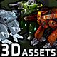 RTS 3D Robot Assets