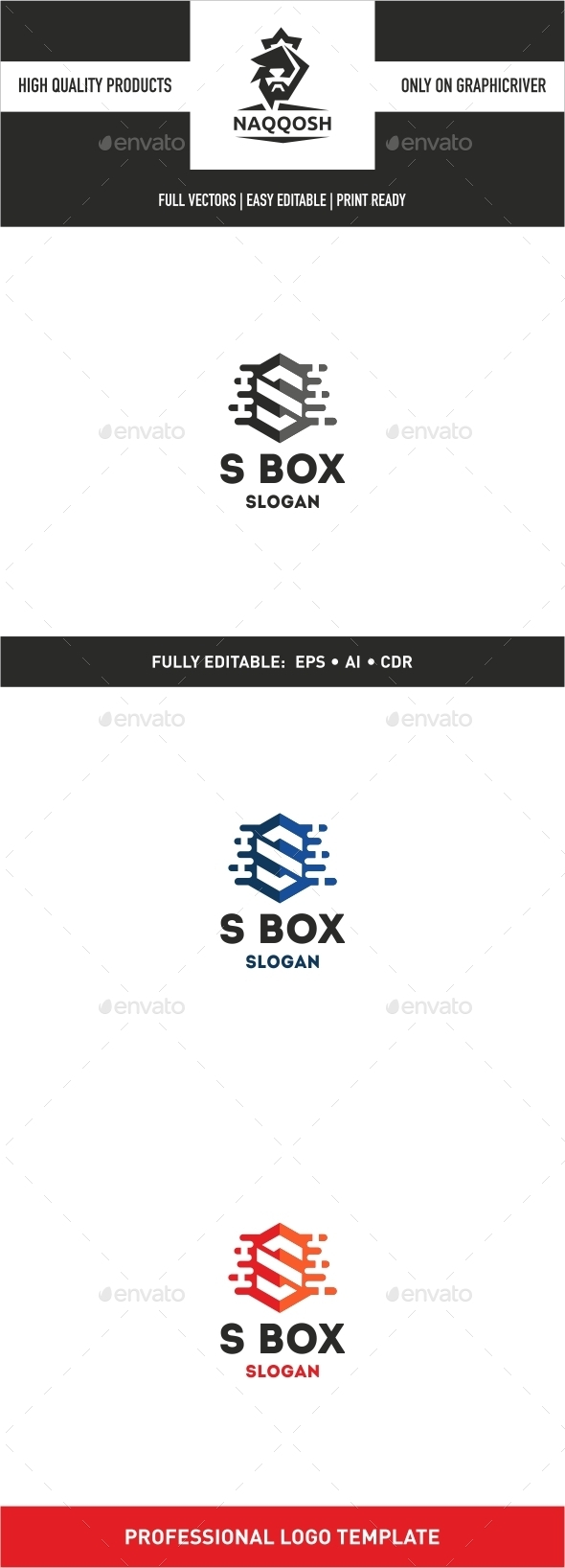 S BOX - Logo Templates