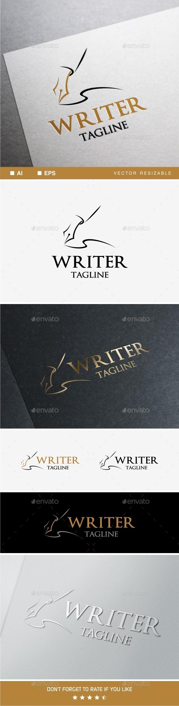 Writer Logo - Objects Logo Templates