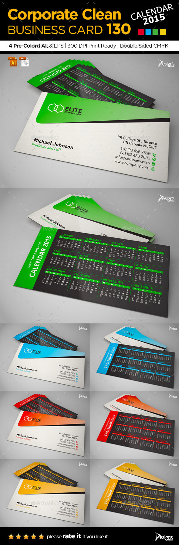Business Card 2015 - Business Cards Print Templates