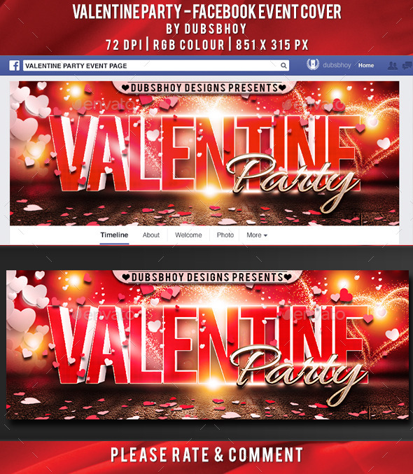 Valentine Party Facebook Cover - Facebook Timeline Covers Social Media