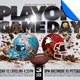 Playoff Game Day Football Flyer Template - GraphicRiver Item for Sale