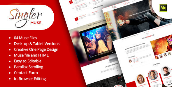 Singler Muse Template - Creative Muse Templates