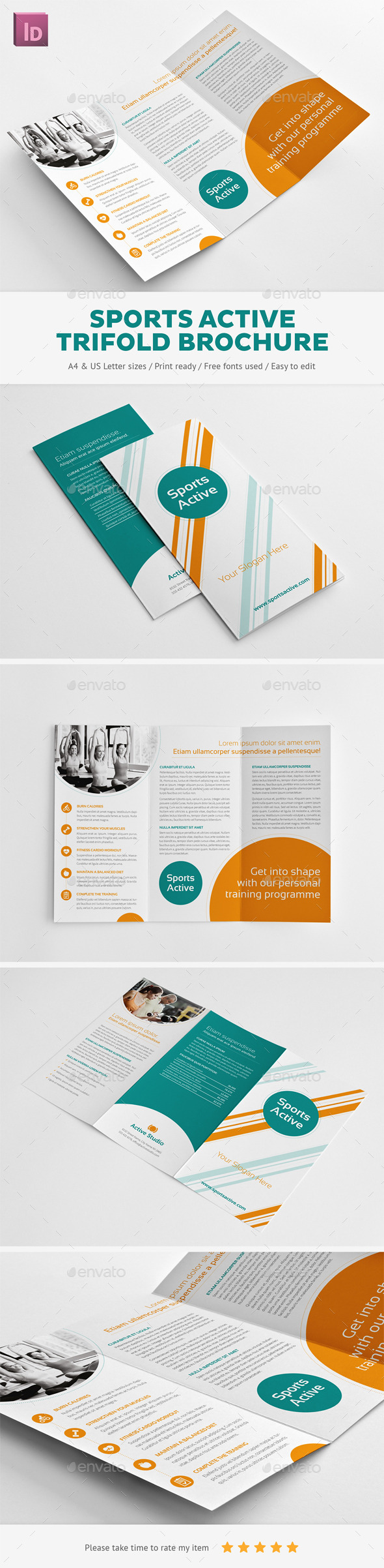 Sports Active Trifold Brochure - Corporate Brochures