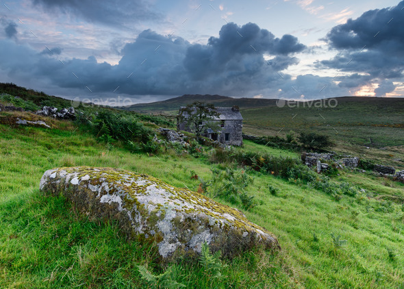 Old Cottage on the Moors - Stock Photo - Images