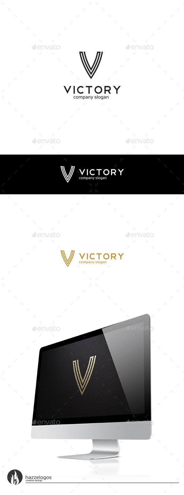 Victory - Letter V Logo - Letters Logo Templates