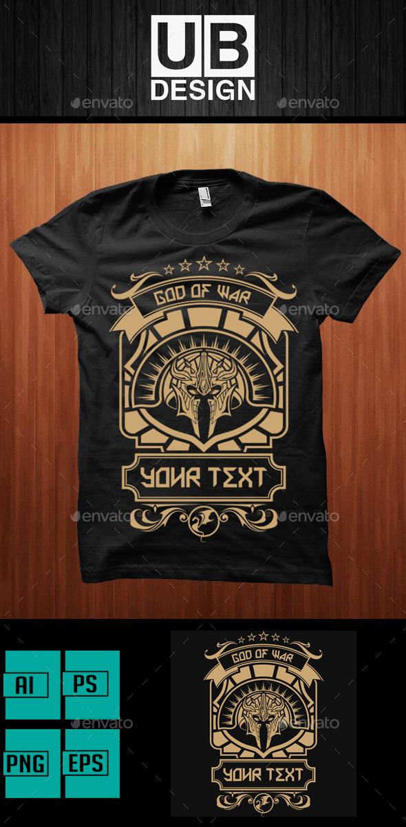 Design Illustration of Ares - Designs T-Shirts