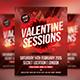 Valentines Sessions / Love / Futuristic Flyer - GraphicRiver Item for Sale