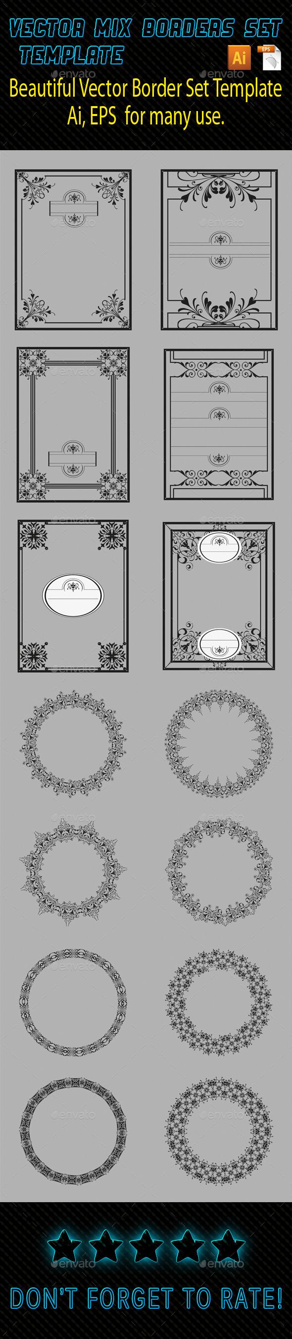 Mix Borders Template 04 - Borders Decorative