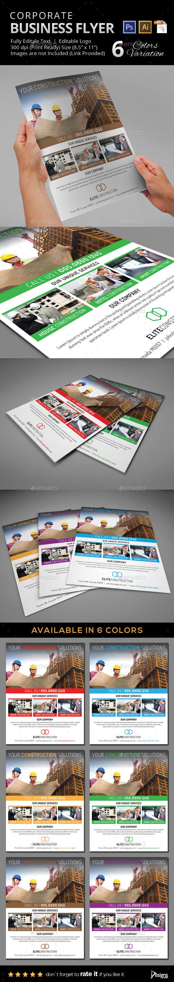 Construction Flyer 24 - Flyers Print Templates