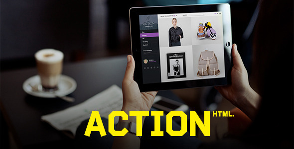 Action | HTML Template - Retail Site Templates