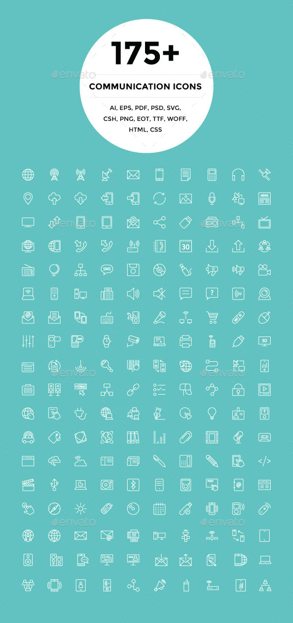 175+ Communication Icons - Technology Icons