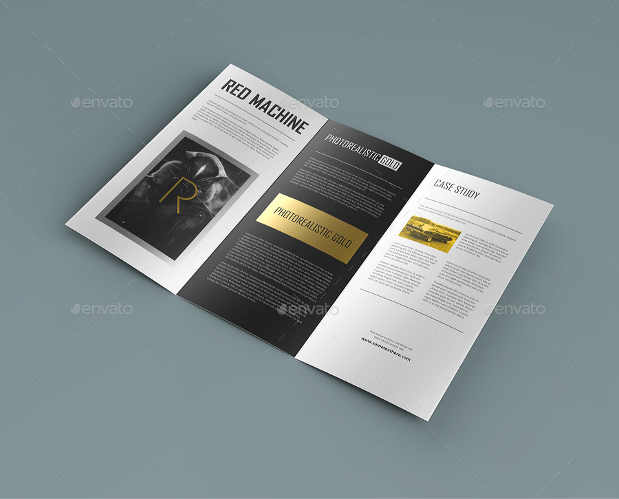 Trifold Brochure Mockup By Webandcat  Graphicriver