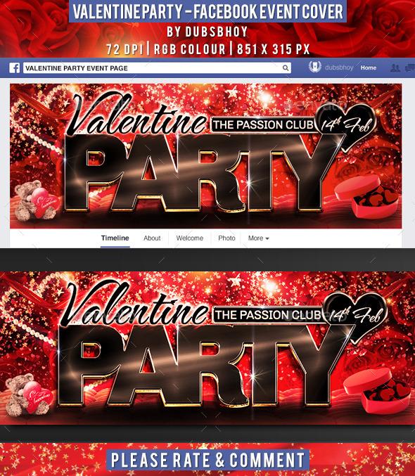 Valentine Facebook Event Cover - Facebook Timeline Covers Social Media