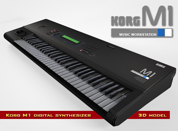 Korg M1 Synthesizer - 3DOcean Item for Sale