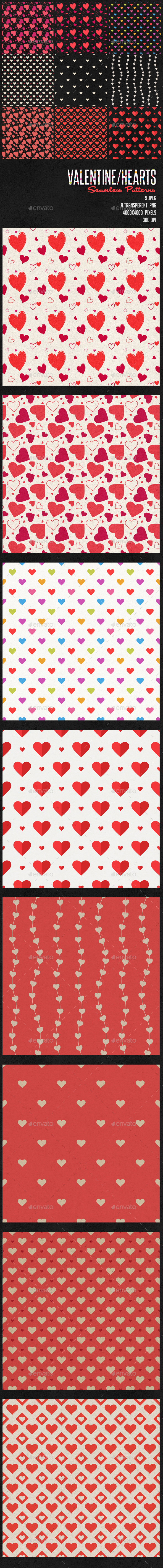 Valentines / Heart Patterns  - Patterns Backgrounds