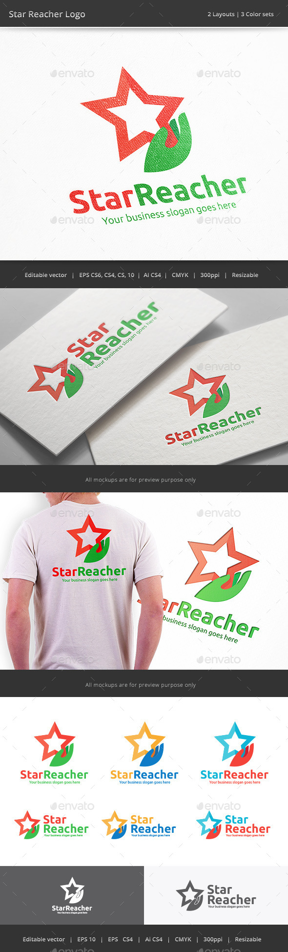 Star Reacher Hand Logo
