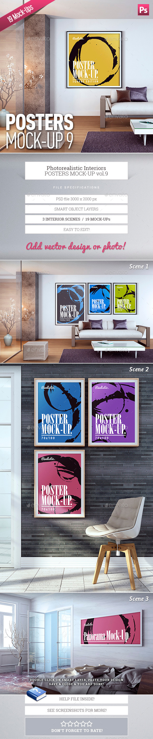 Posters Mock-Up Vol.9 - Posters Print