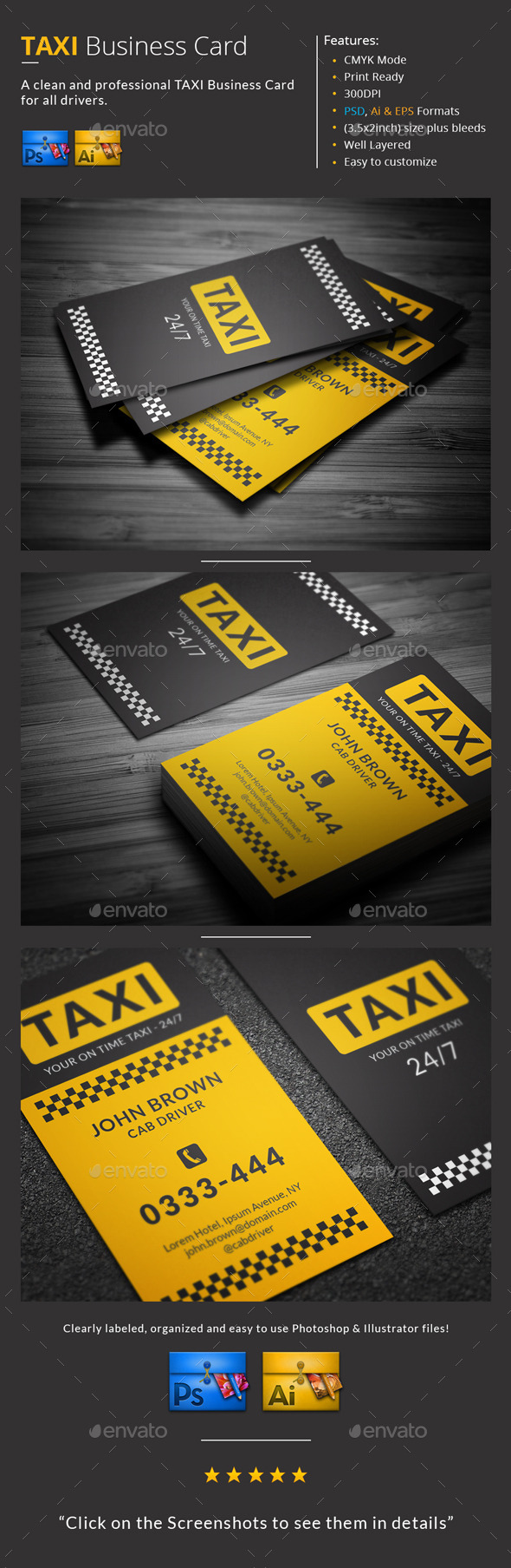 Taxi Business Card by MR-Design | GraphicRiver