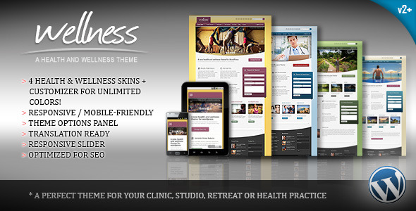 Wellness – A Health & Wellness WordPress Theme