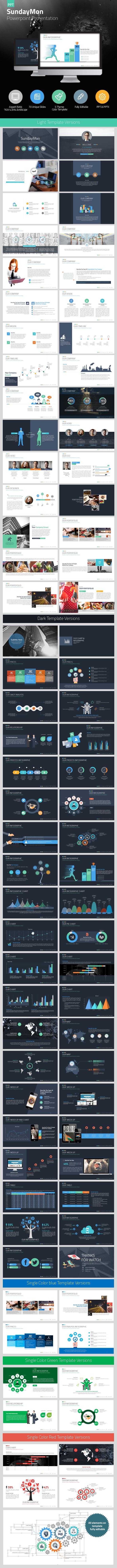 SundayMon PowerpointPresentation - PowerPoint Templates Presentation Templates