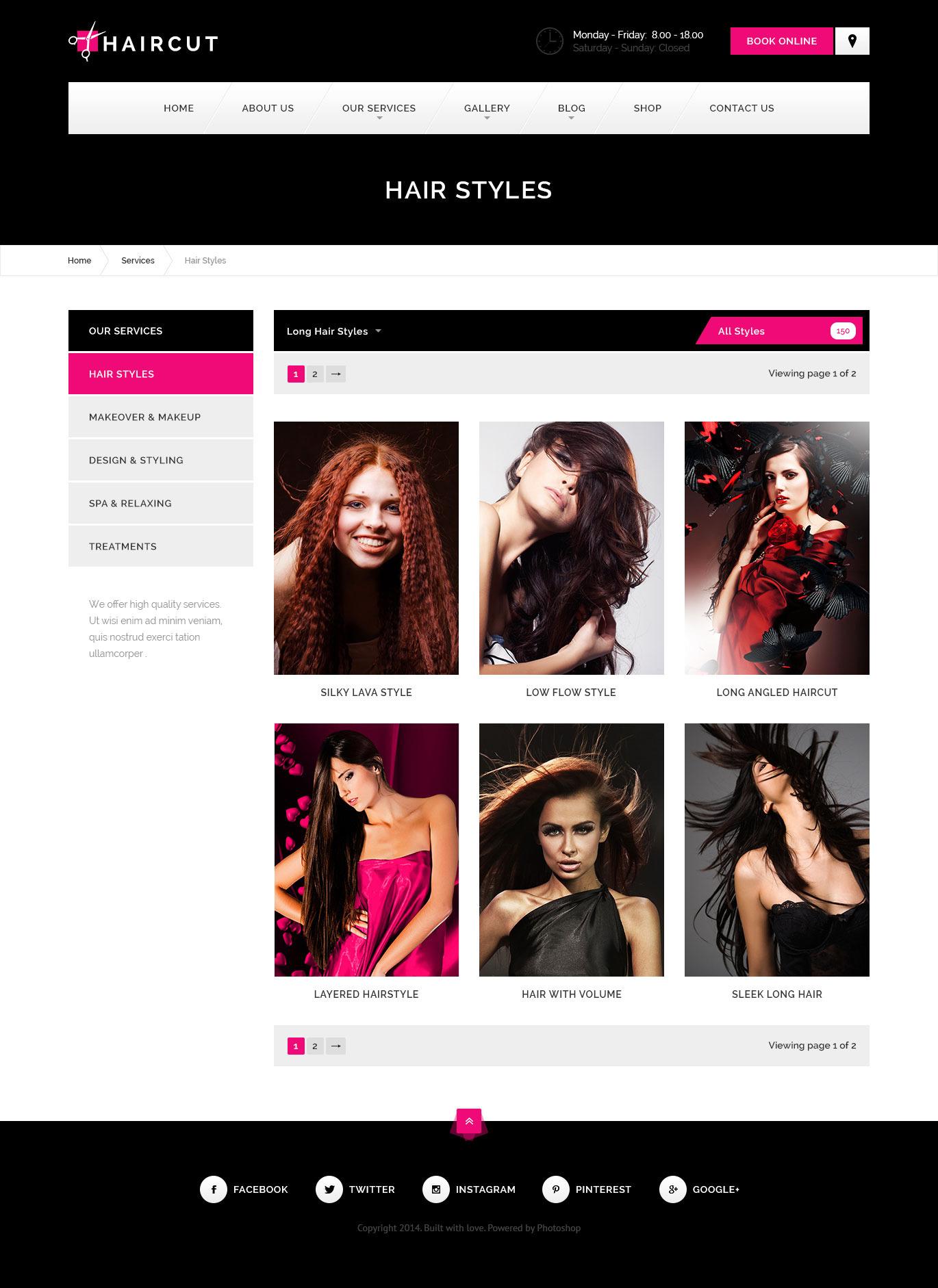 Haircut , Barbershop, Spa, Beauty, Manicure HTML Template