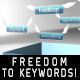 FREEDOM TO KEYWORDS - intro - VideoHive Item for Sale