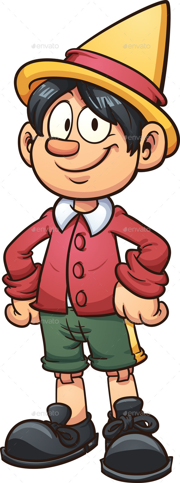 Cartoon Pinocchio - People Characters