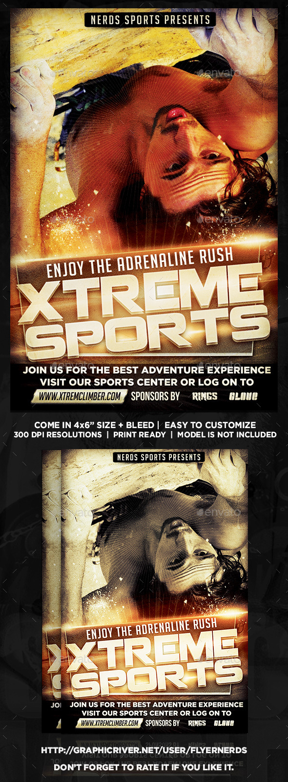 Extreme Climbing Sports Flyer - Sports Events