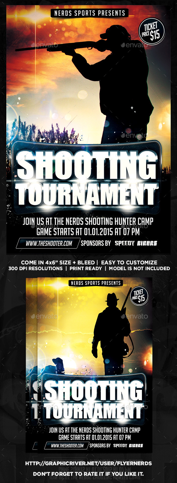 Hunting Tournament Sports Flyer - Sports Events