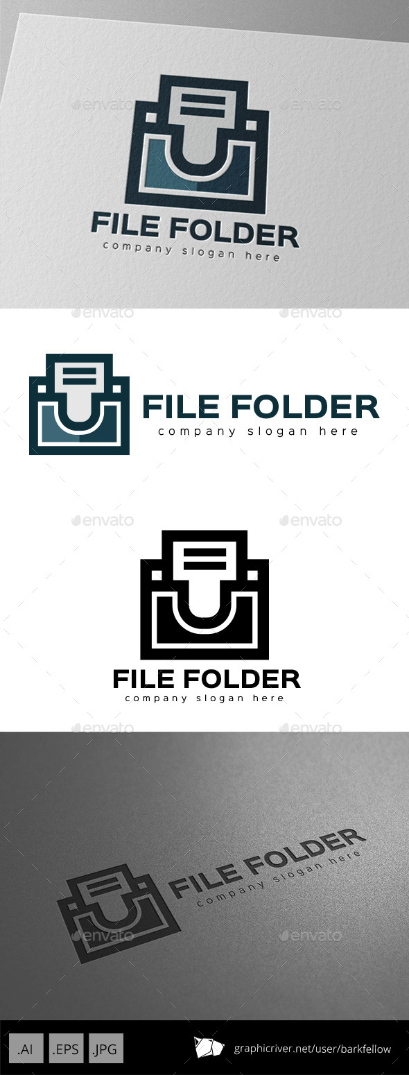 File Document Folder Logo - Symbols Logo Templates