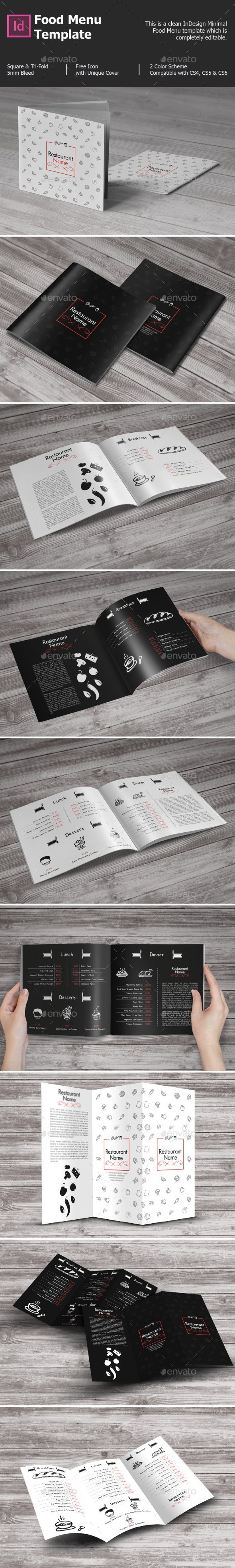 Food Menu Template - Food Menus Print Templates