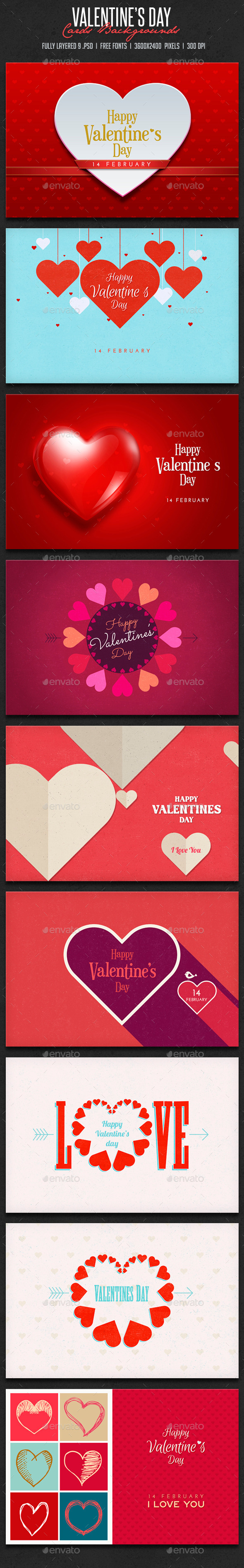 Valentine's Day CardsBackgrounds - Miscellaneous Backgrounds
