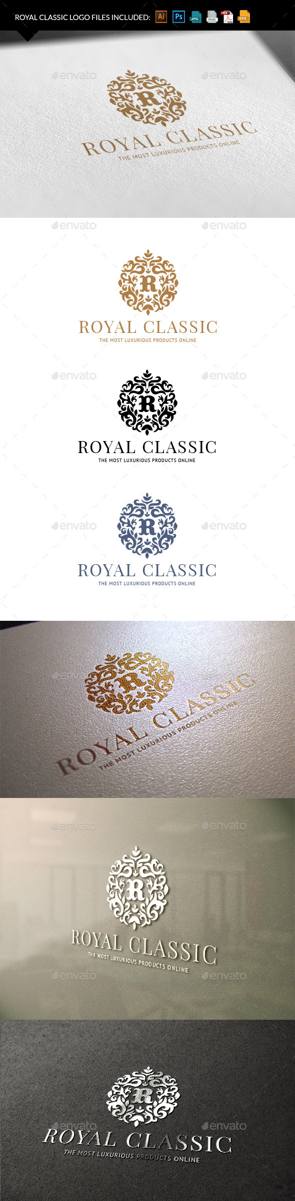 Royal Classic - Crests Logo Templates