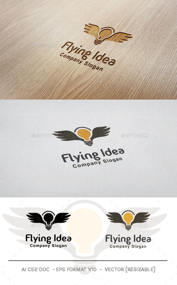 Flying Idea Logo - Symbols Logo Templates