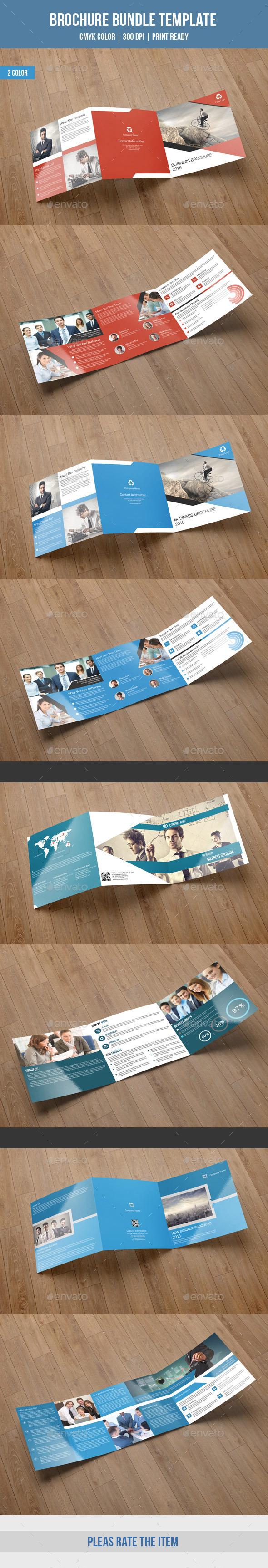 Square Trifold Brochure Bundle-V02 - Corporate Brochures