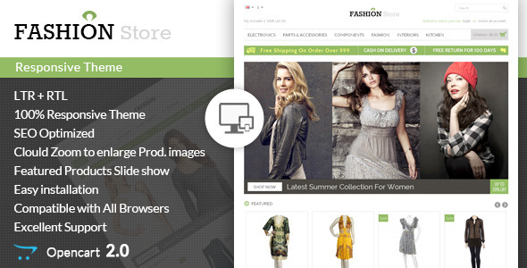 Fashion Store – Responsive Opencart Theme
