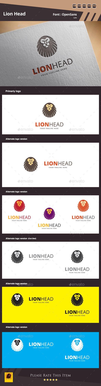 Lion Head Logo Template - Animals Logo Templates