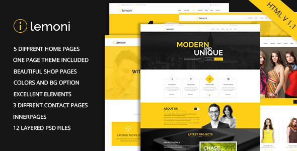 Lemoni – Multipurpose HTML5 Template