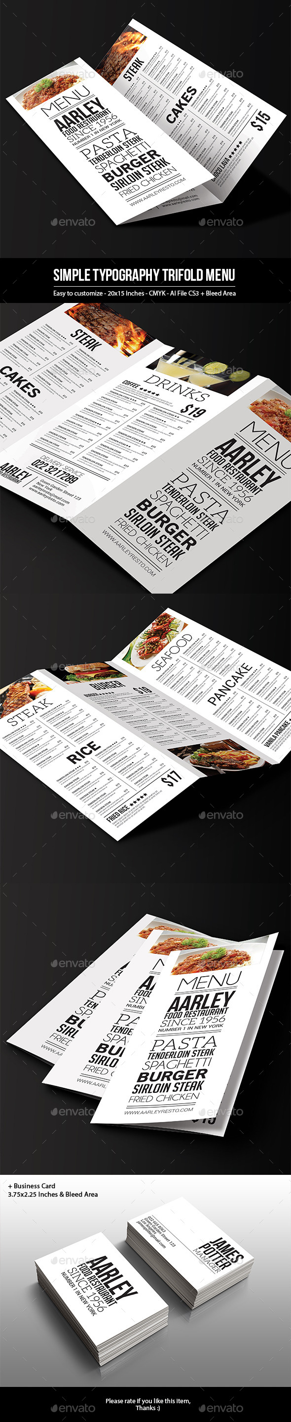 Business Card Menu Templates from GraphicRiver Page 3