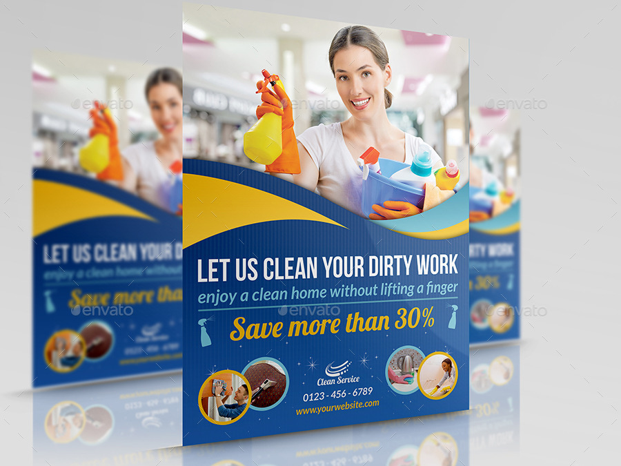Cleaning Services Flyer Template Vol2 By Owpictures Graphicriver