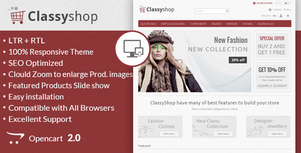 Classy Shop – Responsive OpenCart Template