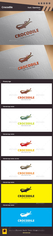 Crocodile Logo Template - Animals Logo Templates